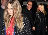 Model behaviour: Cara and Kate both attended the Eleven Paris party for Paris Fashion Week