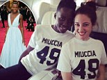 'Prada cheerleaders!': Lupita Nyong'o and stylist pay homage to her glamorous Oscars gown by sporting matching $85 T-shirts