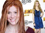Wet hair, don't care! Strawberry blonde Katherine McNamara leaves the salon with new red locks... but forgets to get a blow dry
