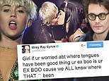 Miley Cyrus fires back at Katy over kiss diss with vengeful tweet about Perry's philandering ex-boyfriend John Mayer