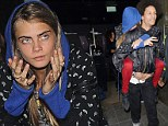 Making an entrance! Cara Delevingne gets piggyback from Beyonce's dancer as she parties with Michelle Rodriguez after superstar's gig