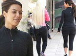 It's Barry's Booty camp! Kim Kardashian and pal Blac Chyna show off their derrieres as they head to popular workout class