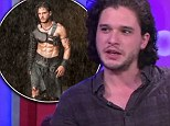 Hulked up: Kit Harington went to the gym three times a day for his role in Pompeii