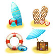 Summer holiday vacation accessories collection