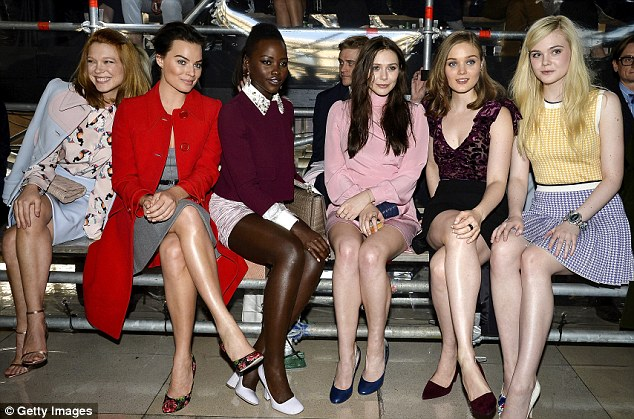 Where's Rihanna? The singer was absent for this picture of the glamorous front row group