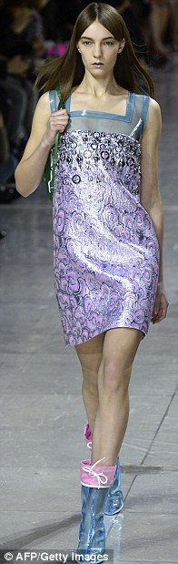 Fashionistas: The show featured metallics teamed with block colours