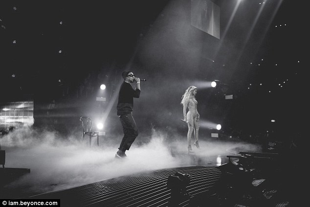 Smoke screen: The duo took command of the stage