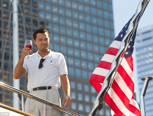 No gold for this wolf: In character as Jordan Belfort in the 2013 film