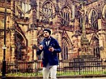 Different surroundings: Juan Mata posts a picture of himself on his Intagram account by Chester cathedral