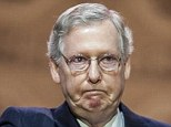 Misfire: The establishment Republican McConnell brought the house to a dull murmur, compared with the tea party renegades who drove thousands to applaud