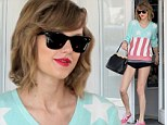 Taylor Swift is patriotic in stars and stripes as she shows off her long legs in tiny hot pants for ballet class