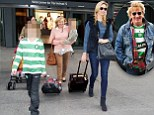 Rod Stewart's son flies into Heathrow with mum Penny Lancaster