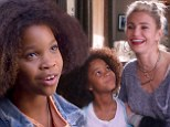 That won't last! Quvenzhané Wallis cuddles up to Cameron Diaz' cold-hearted Miss Hannigan in Annie trailer