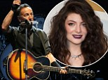 Bruce Springsteen makes Lorde cry
