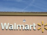 The Walmart logo is pictured at its store in the Porter Ranch section of Los Angeles