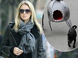 Nicky Hilton spotted in New York with comical shark pet bed