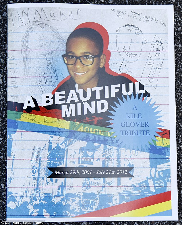 Fondly remembered: The cover of the tribute booklet, emblazoned with the words 'A beautiful mind'