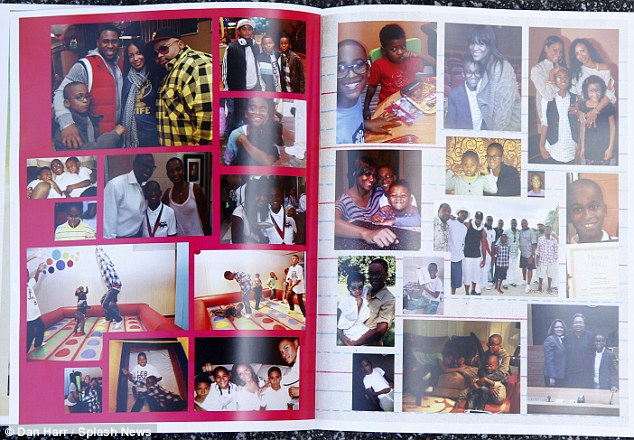 Tributes: A colourful picture booklet showing Kile in a series of family shots