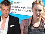 'She's the love of my life!': Aaron Carter goes on Twitter rant about ex-girlfriend Hilary Duff who he split from 11 years ago
