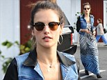 The Brazilian beauty epitomised off-duty model cool as she ran errands at a supermarket in Brentwood, L.A