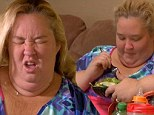 You can't always get what you want! Mama June forces herself to eat salad and fruit after pregnancy scare on Here Comes Honey Boo Boo