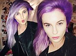Purple mane! Ireland Baldwin shows off her boldly coloured new hairstyle in series of selfies... and it matches her Oscars gown