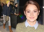 Glamming it up: Shailene Woodley hit the red carpet for the Canadian premiere of her new film, Divergent, in Toronto on Wednesday