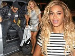 Trying to get Drunk In Love? Beyonce and Jay Z head back The Arts Club for a second night in the row as the signer stuns in striped mini dress
