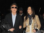 Leaving on a jet plane: Paul McCartney and Nancy Shevell were seen flying out of LA on Thursday