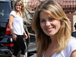 Television star: Full House star Candace Cameron Bure looked ready for competition on Thursday as she attended rehearsal for Dancing With The Stars