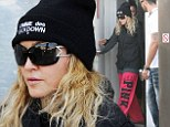 Concentrating: Madonna looked to have endured a good pilates session as she left the establishment looking focused