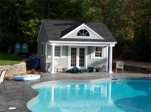Simple Pool Cabana and Changing Room