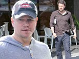Old friends: Ben Affleck and Matt Damon spent some time together on Thursday in Los Angeles while Ben's wife Jennifer Garner was in New York City