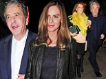 Double date: Charles Saatchi and Trinny Woodall dine with Trevor Eve and his wife Sharon Maughan at Colbert restaurant in Sloane Square