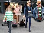 Rod Stewart's son flies into Heathrow with mum Penny Lancaster