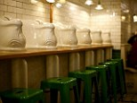 The Attendant cafe has retained original features such as the 1890's porcelain urinals