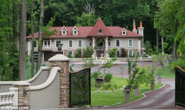 Sham: The Giudice home in Towoca, New Jersey is a sprawling mansion worth $10million