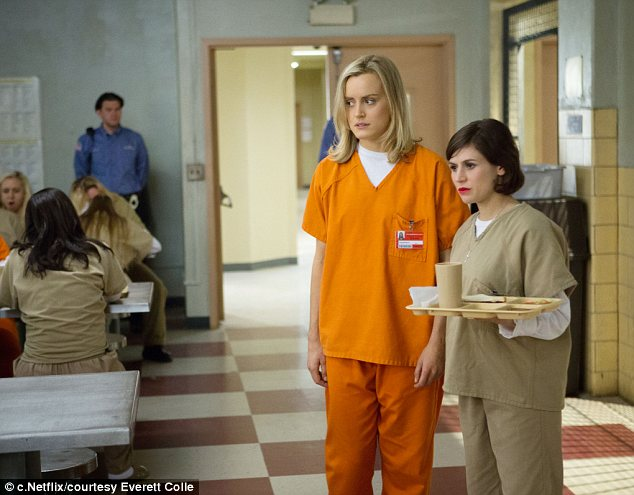 New series: Actress Taylor Schilling's character Piper Chapman in the Netflix series is based on Ms Kerman's real-life experiences