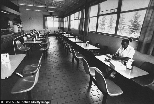 Sparse: A glimpse inside Danbury Prison's cafeteria when hotel queen Leona Helmsley served two years for tax evasion from 1992 until 1994