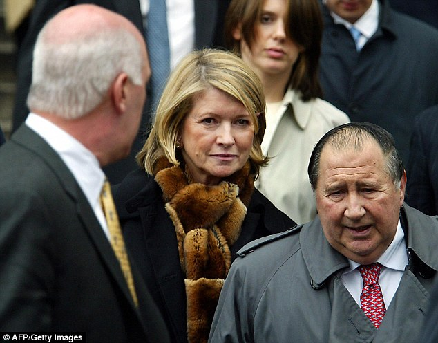 Shock: Millionaire lifestyle guru Martha Stewart after being convicted of charges of conspiracy, obstruction of justice and two counts of making false statements to federal investigators, in March 2004