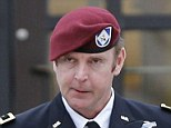 U.S. Army Brigadier General Jeffrey Sinclair leaves the courthouse at Fort Bragg in North Carolina on March 4, 2014