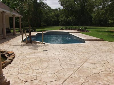 Renovation with Stamped Concrete Deck