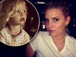 Jessica Simpson shows off svelte frame in Instagram selfie as she reaches her goal weight... and celebrates with snaps of her 'beautiful' children