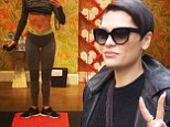 'I don't want to be a toothpick': Jessie J displays toned tum and tiny thigh gap in tight-fitting grey leggings following workout