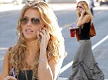 There's nothing like feeling floaty and fancy-free: AnnaLynne McCord steps out in another long, loose fitting skirt