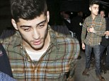 Going in One Direction: Zayn appeared to be slightly unwell as he left Faces nightclub