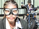 Trying to start a new trend? Steven Tyler wore a funny pair of goggles to hop on his motorcycle in front of Gjelina restaurant in Venice, Los Angeles, California on Saturday