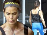 Teri Hatcher, 49, sculpts her incredibly toned figure at CrossFit Horsepower in Studio City