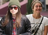 We didn't know you were friends! Ellen Page enjoys a casual lunch with fellow down-to-earth star Shailene Woodley