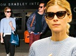 Great match! Kate Mara coordinates her carry-on with boyfriend Max Minghella after landing at LAX